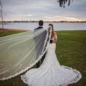 Long Sleeve Pronovias Wedding Dress